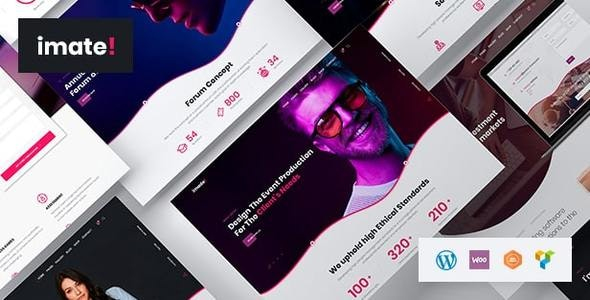 iMate - 企业公司商务网站WordPress模板-创客云