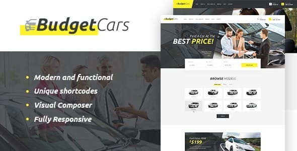Budget Cars - 二手车经销商租赁WordPress主题-创客云