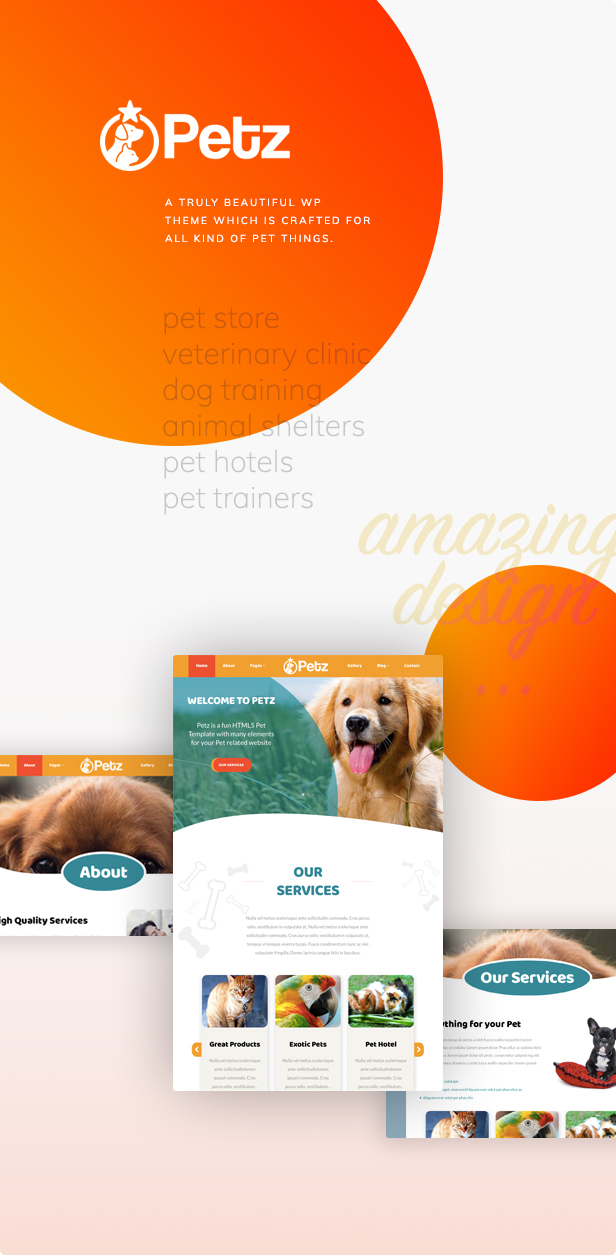 Petz - 宠物护理兽医商店模板WordPress主题-创客云