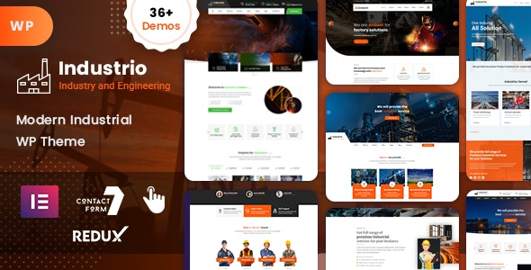 Industrial – 工厂工业WordPress网站模板
