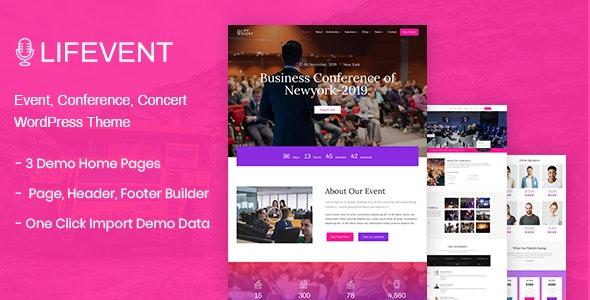 Lifevent - 活动会议展览网站WordPress主题-创客云