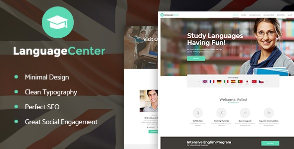 Language Center & Online School Education - 语言在线教育WordPress主题-创客云