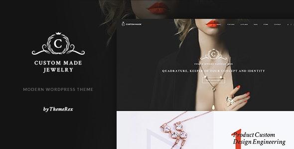 Custom Made - 珠宝奢侈品商店WordPress主题-创客云