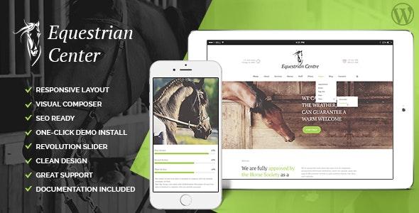 Equestrian Centre - 马术骑马学校竞技场WordPress主题-创客云