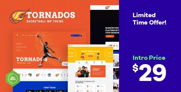 Tornados - 篮球NBA球队网站WordPress主题-创客云
