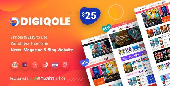 Digiqole - 新闻资讯杂志WordPress主题-创客云