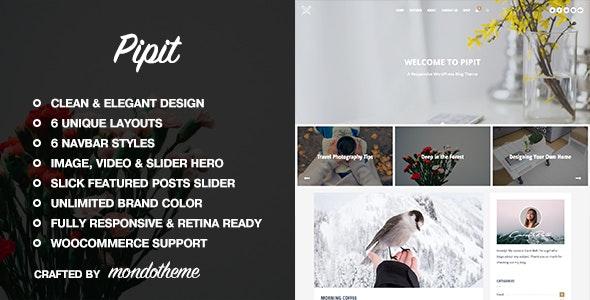 Pipit - 响应式博客模板WordPress主题-创客云