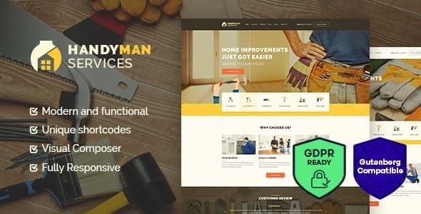 Handyman - 建筑维修服务wordpress主题-创客云