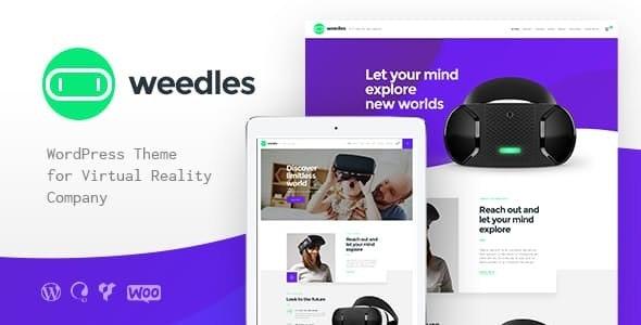 Weedles - VR虚拟现实WordPress主题-创客云