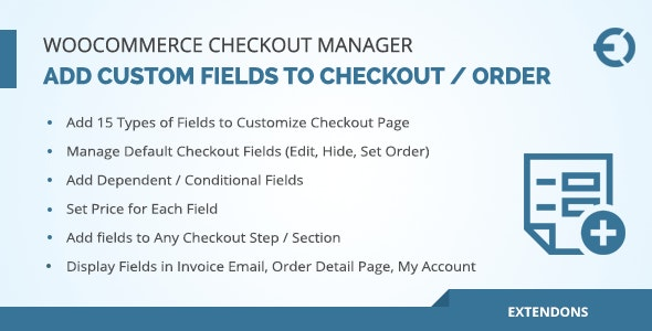 WooCommerce Checkout Fields Manager Custom Checkout Fields 商店自定义字段插件-创客云