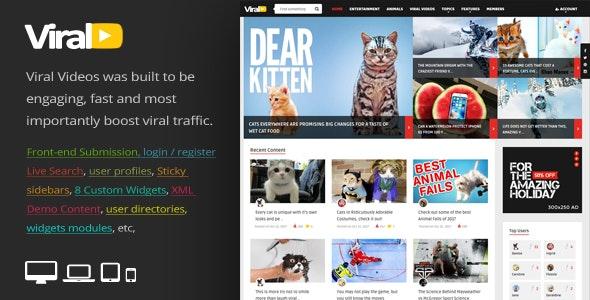 ViralVideo - 响应式博客文章模板WordPress主题-创客云