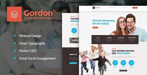 Gordon - 金融投资保险公司WordPress主题-创客云