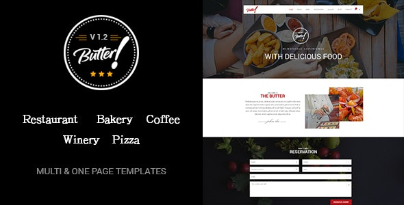 Butter – 专业餐厅面包咖啡酒庄WordPress主题 – v2.1