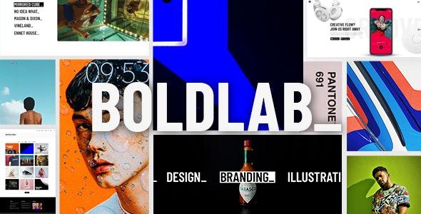 Boldlab – 创意设计机构网站WordPress模板 – v1.0.3