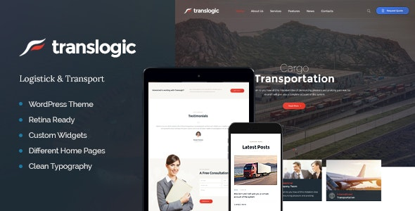 Translogic - 物流货运快递WordPress主题-创客云