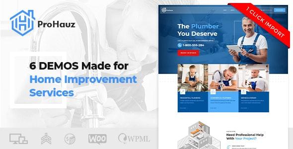 ProHauz - 水电维修施工WordPress模板-创客云