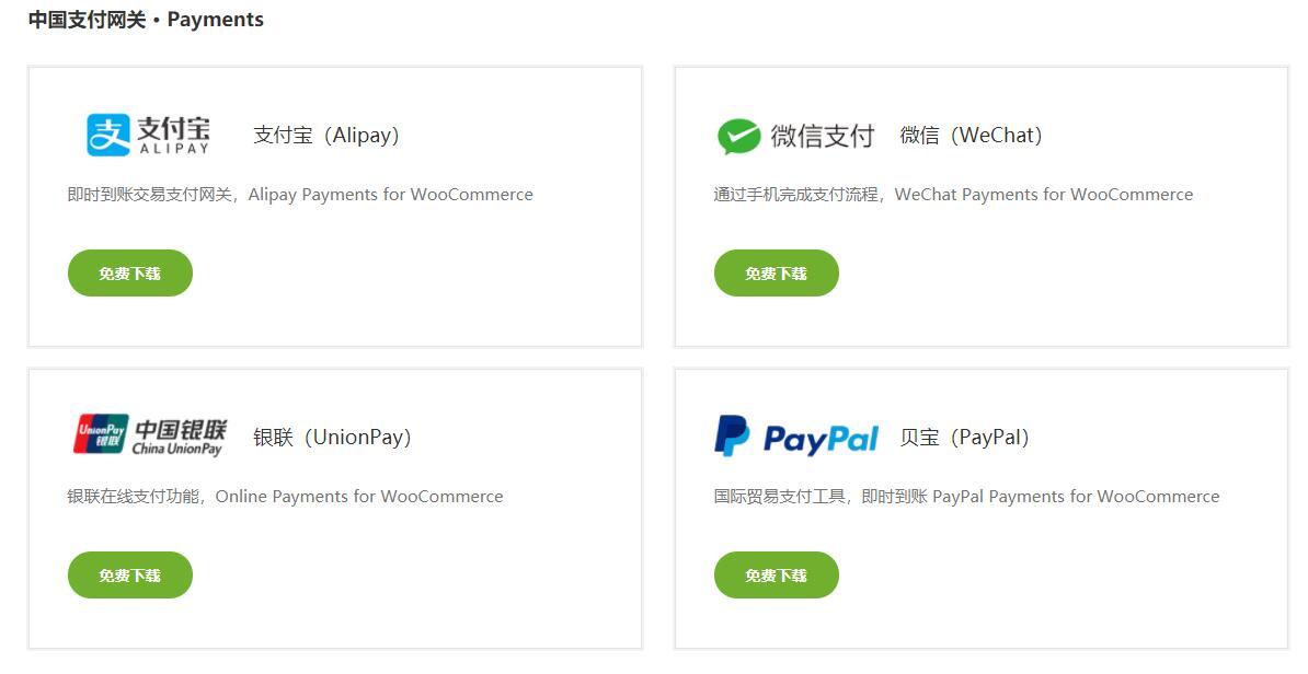 wordpress电子商务网站插件 WooCommerce +语言包+支付网关 最新版