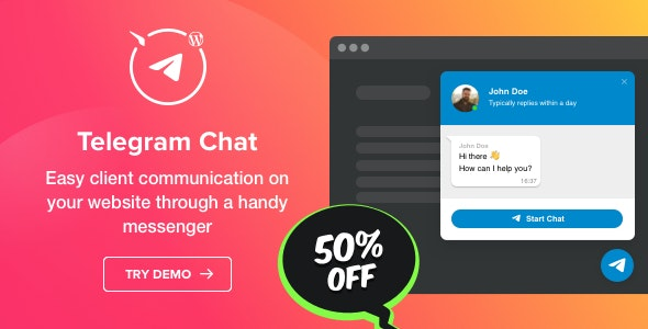 Telegram Chat Plugin for WordPress 客服机器人WordPress插件-创客云