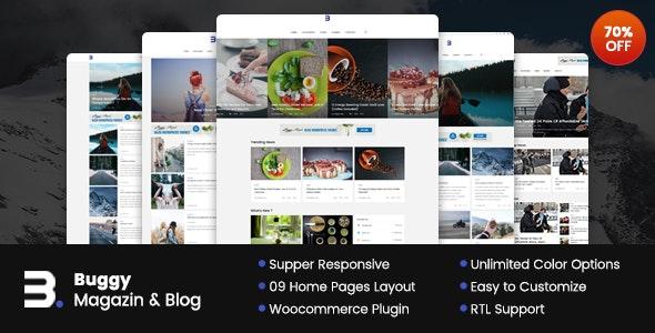 Buggy - 新闻杂志网站模板WordPress主题-创客云