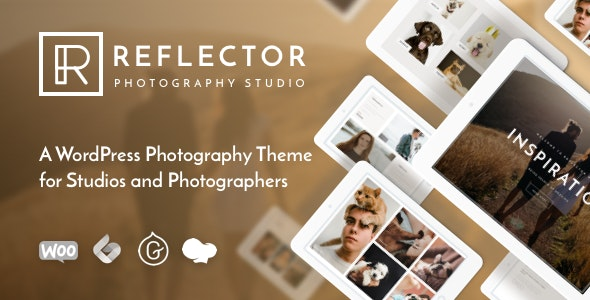 Reflector - 摄影工作室网站模板WordPress主题-创客云