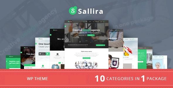 Sallira - 多用途启初创企业WordPress主题-创客云