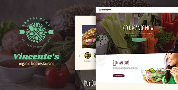 Vincente's - 生态有机食品餐厅WordPress主题-创客云