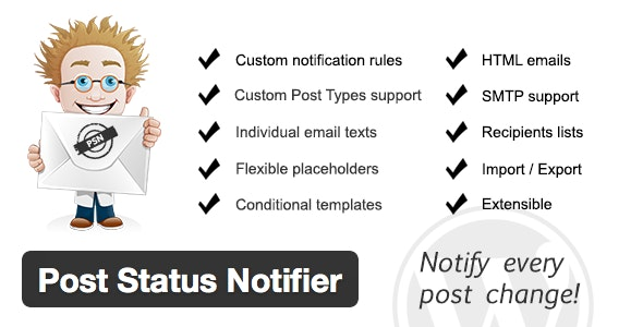 Post Status Notifier 文章发布状态通知WordPress插件-创客云