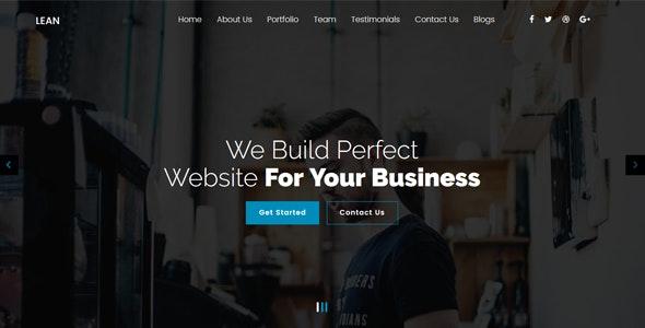 Lean - 简约单页网站WordPress模板-创客云