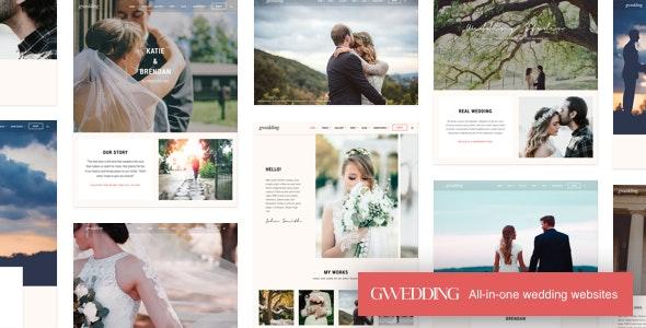 Grand Wedding – 婚礼活动婚庆网站WordPress模板 – v2.3