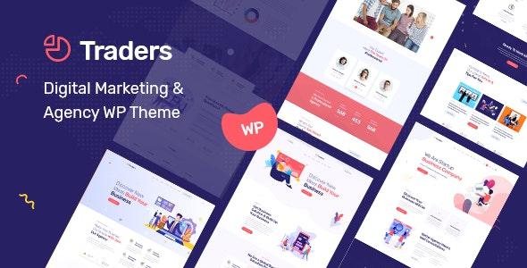 Traders – 虚拟数字货币数字营销代理网站WordPress主题