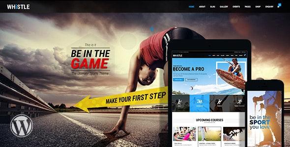 Whistle - 体育竞技网站WordPress主题-创客云