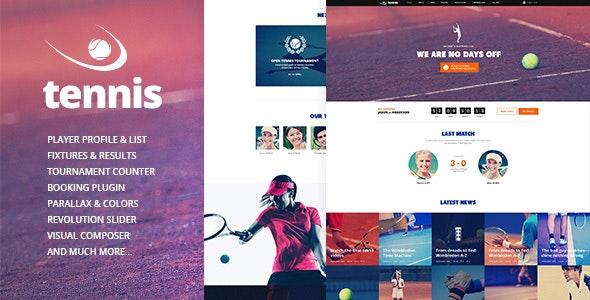 Tennis - 网球体育俱乐部WordPress主题-创客云