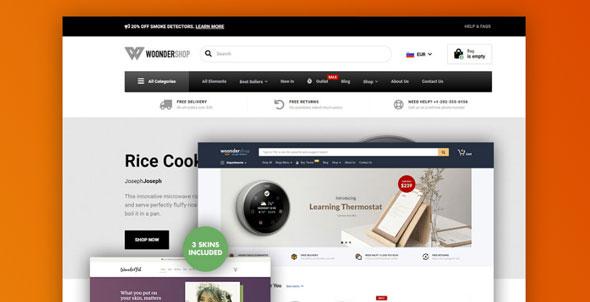 WoonderShop - 专业电子商务Wooderce主题-创客云