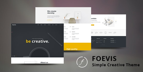 Foevis - 创意简约网站模板WordPress主题-创客云