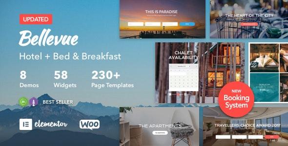 Bellevue - 酒店住宿早餐预订WordPress主题-创客云