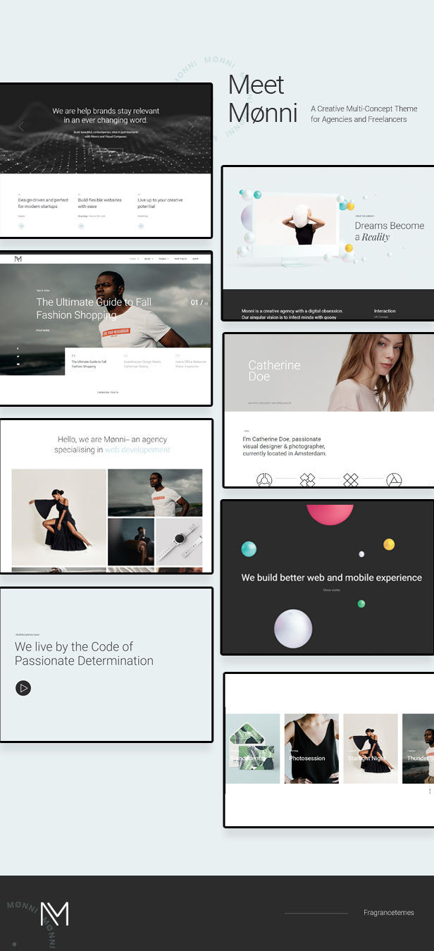 Monni - 创意自由职业多WordPress网站模板-创客云