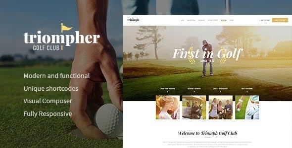 Triompher - 高尔夫球场运动俱乐部WordPress主题-创客云