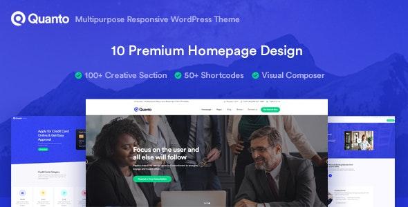 Quanto - 企业公司网站模板WordPress主题-创客云