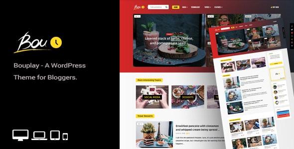 Bouplay WP - 美食食谱分享博客WordPress主题-创客云
