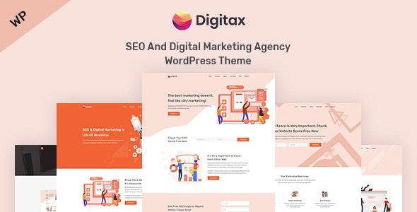 Digitax - 搜索引擎优化数字营销WordPress主题-创客云
