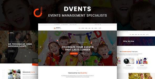 Dvents - 活动管理机构WordPress主题-创客云