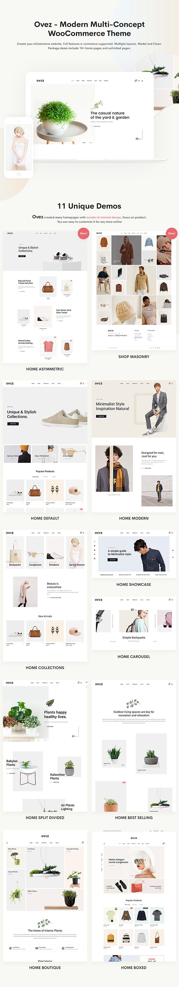 Ovez - 现代多用途商店模板WooCommerce主题-创客云