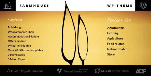 Farmhouse - 农业旅游农家乐WordPress主题-创客云