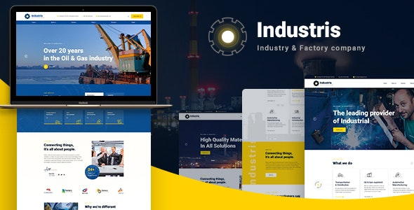 Industris -工厂加工企业网站WordPress主题 – v1.0.3