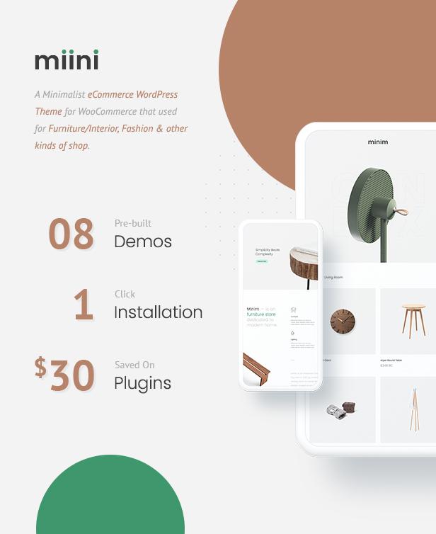 Miini - 小型迷你商店模板WooCommerce主题-创客云