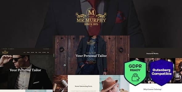 Mr. Murphy - 定制服装裁缝店WordPress主题-创客云