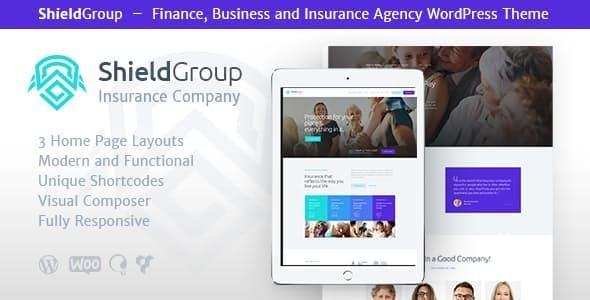 ShieldGroup - 保险金融企业网站模板WordPress主题-创客云