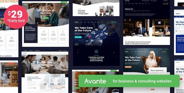 Avante - 财务咨询公司网站WordPress模板-创客云