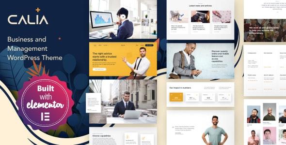 Calia - 企业公司网站WordPress模板-创客云
