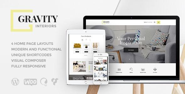 Gravity - 室内设计家具商店WordPress主题-创客云